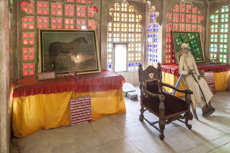 Wśrodku miasto pałac w Udaipur obrazy stock