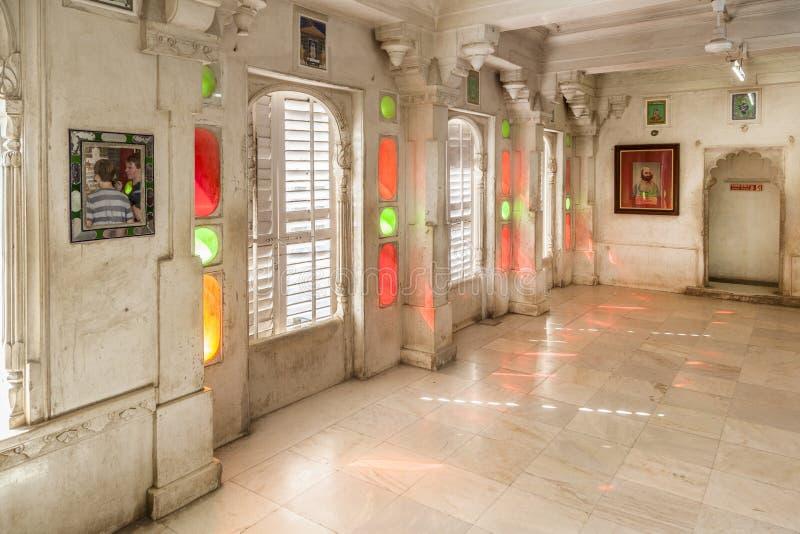 Wśrodku miasto pałac w Udaipur zdjęcie royalty free