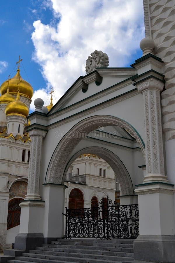 Wśrodku Moskwa Kremlin, popularna atrakcja turystyczna Faceted sala obrazy royalty free