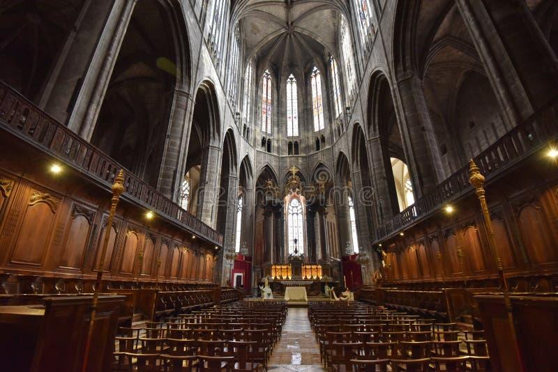 Wśrodku Narbonne katedry obrazy royalty free