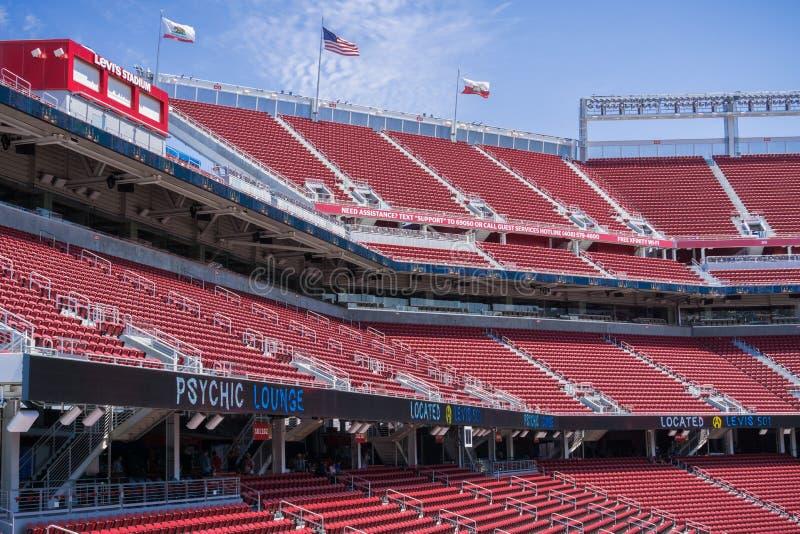 Wśrodku nowego Levi ` s stadium, Santa Clara, Kalifornia zdjęcia stock