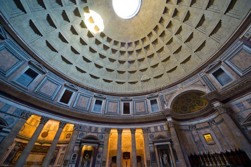 Wśrodku Panteonu, Rzym obrazy royalty free