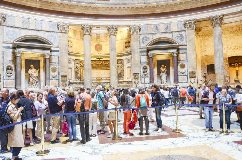 Wśrodku panteonu, Rzym, Włochy obrazy royalty free