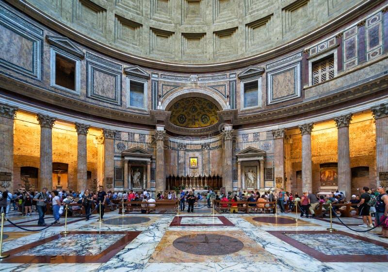 Wśrodku Panteonu, Rzym, Włochy zdjęcia royalty free