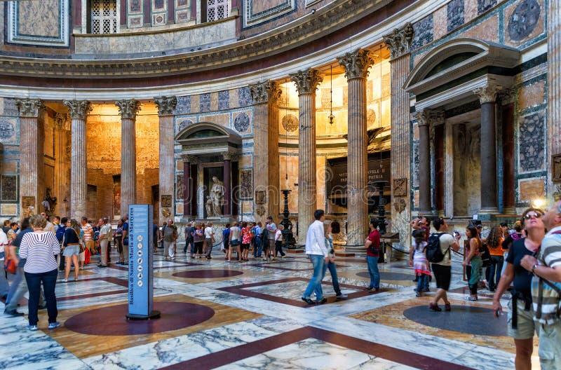 Wśrodku panteonu w Rzym, Włochy zdjęcia stock