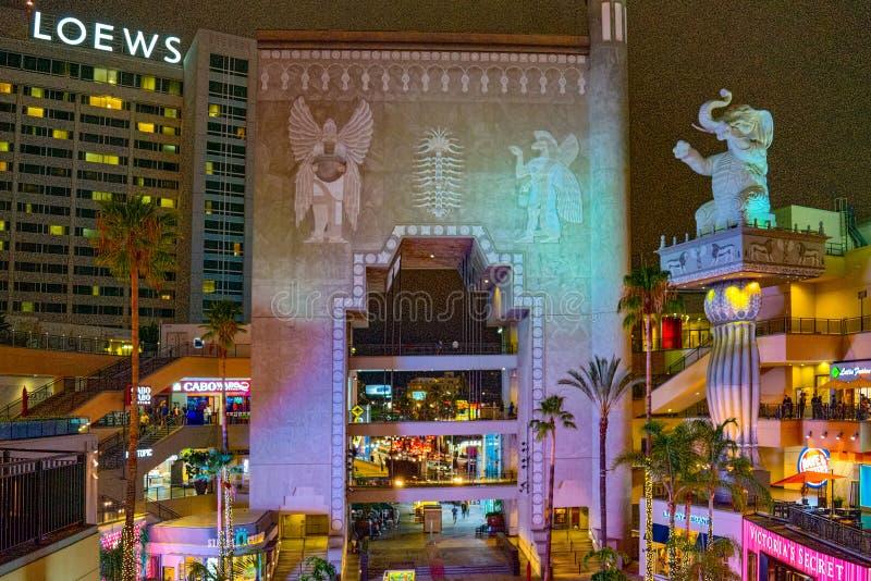 Wśrodku powikłanego kodaka teatru Dolby obrazy royalty free