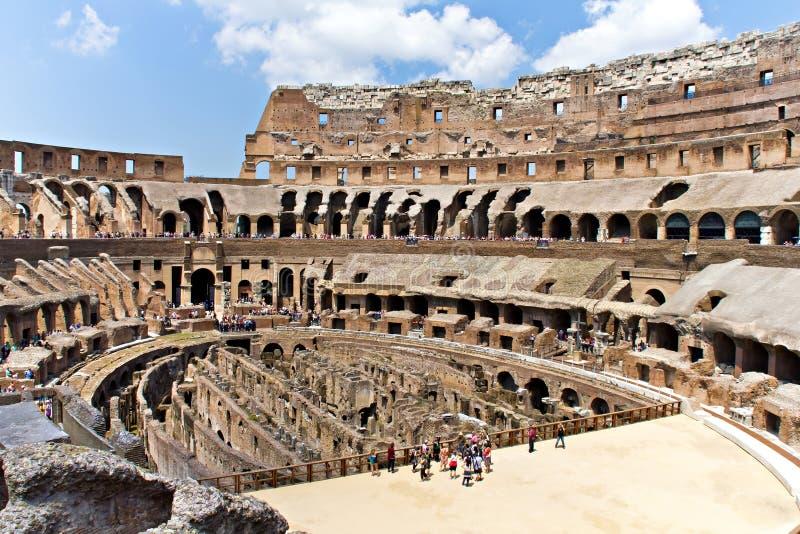 Wśrodku Rzym Colosseum obrazy stock