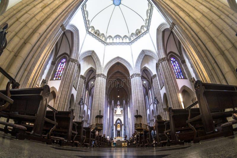 Wśrodku Se metropolita katedry zdjęcie stock