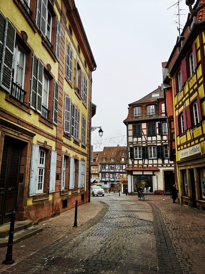 Wśrodku starego miasta Basel, Szwajcaria obraz royalty free