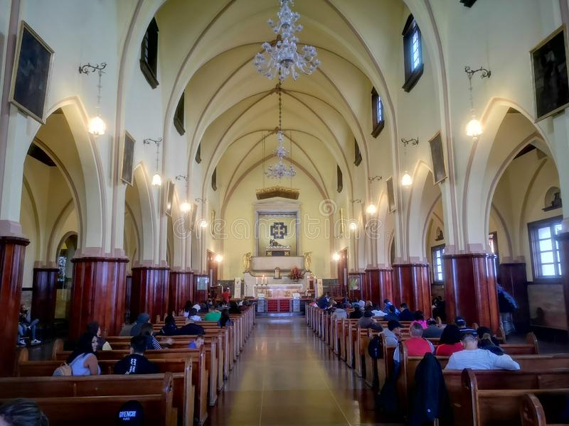 Wśrodku władyki Basilic przy Bogota Kolumbia Montserrat zdjęcia stock