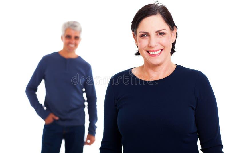 W średnim wieku kobieta mąż zdjęcie stock