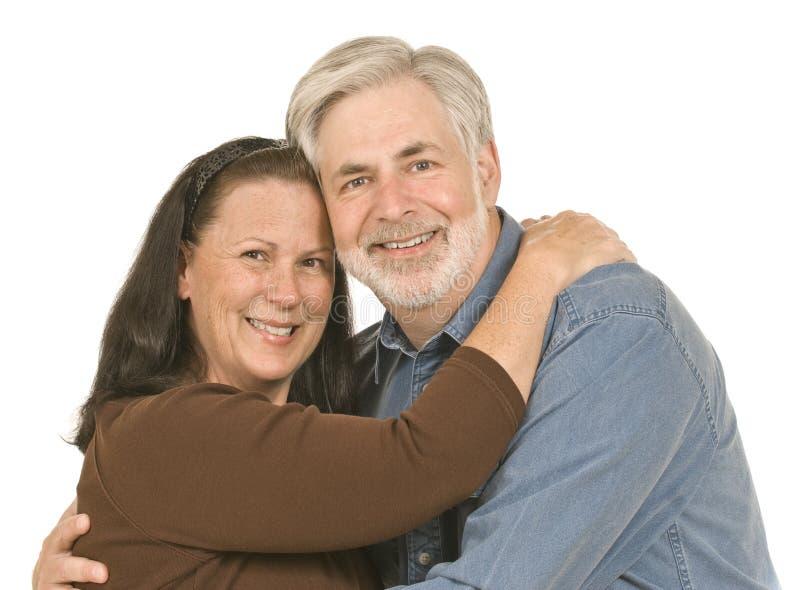 W średnim wieku pary ono Uśmiecha się obrazy stock