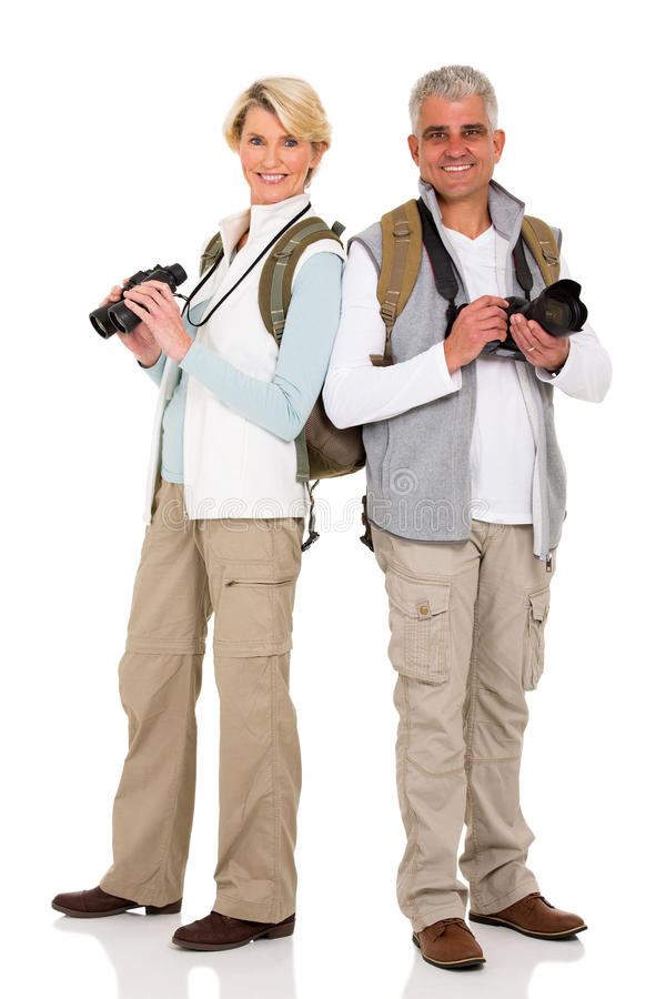 W średnim wieku turystów stać fotografia royalty free