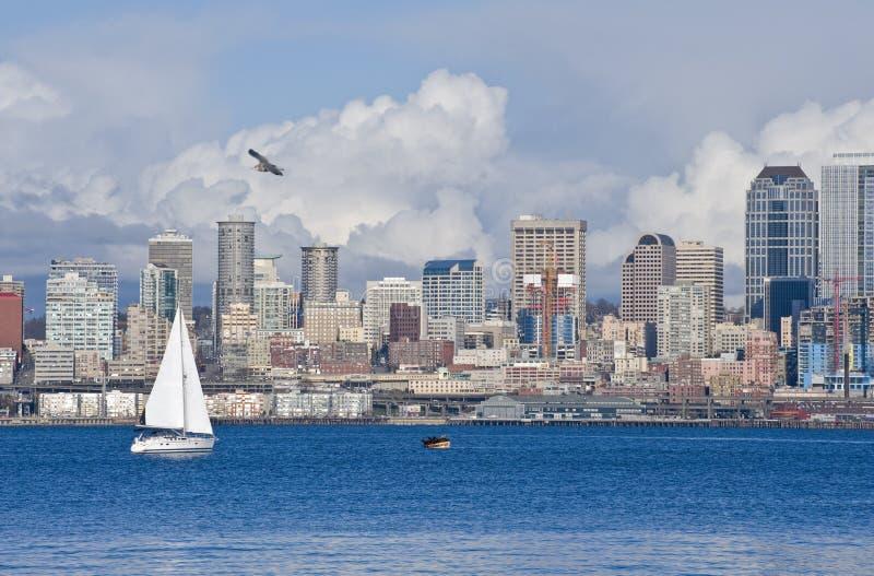 w środku Seattle linia horyzontu fotografia stock