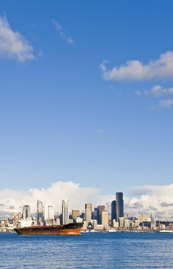 w środku Seattle linia horyzontu obrazy royalty free