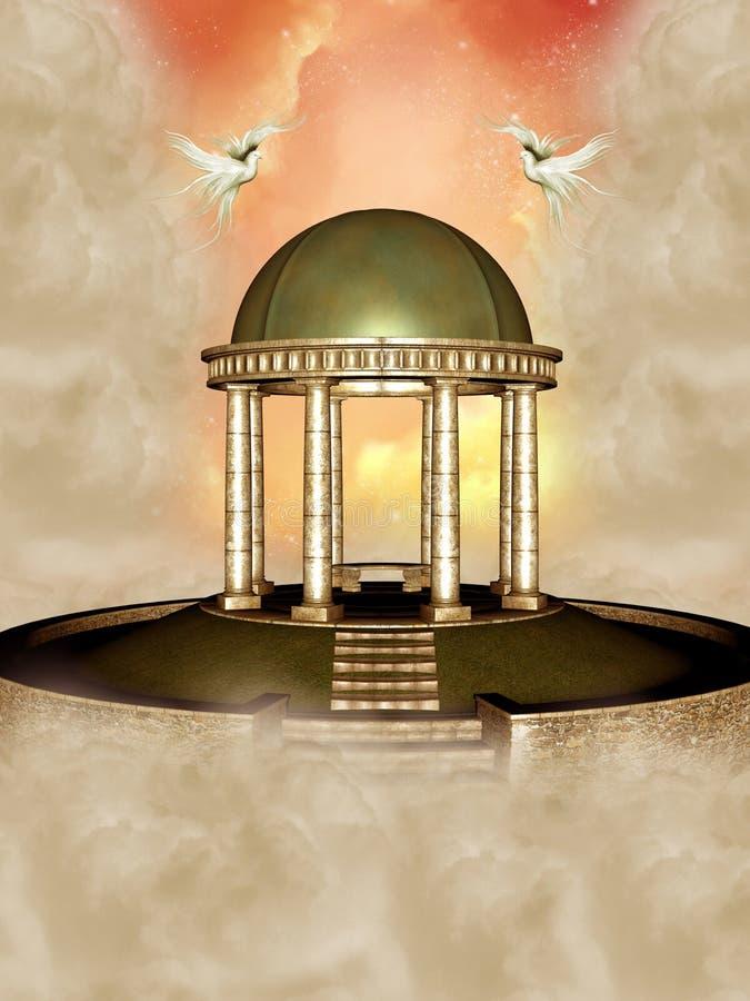 w świątyni ilustracji