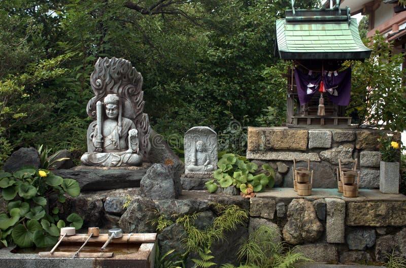 W świątyni, Kyoto, Japonia zdjęcia stock