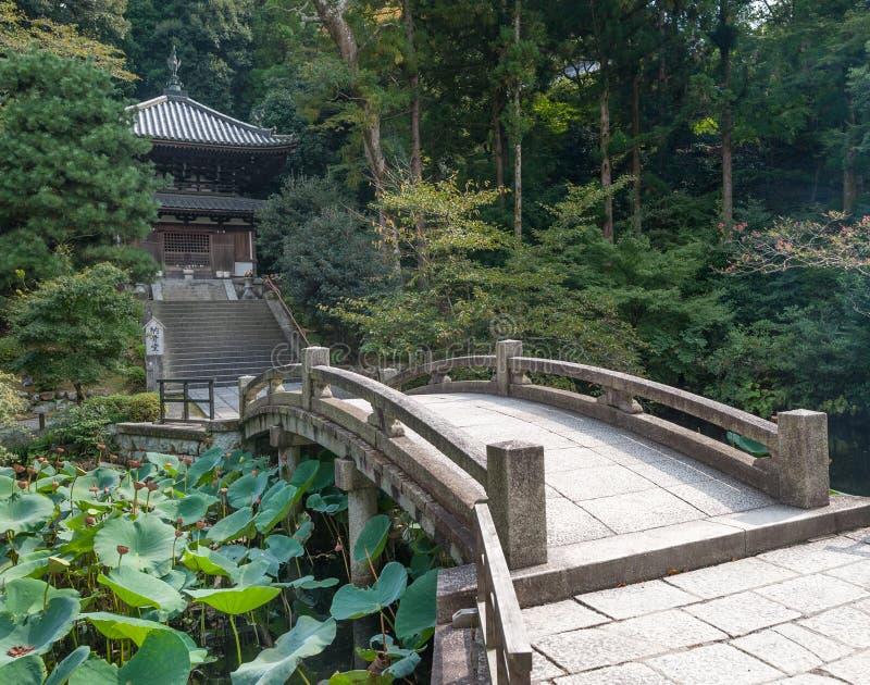 W świątynia ogródzie, świątynia w Higashiyama, Kyoto, Japonia Kwatery główne Jodo-shu Shri zdjęcia stock