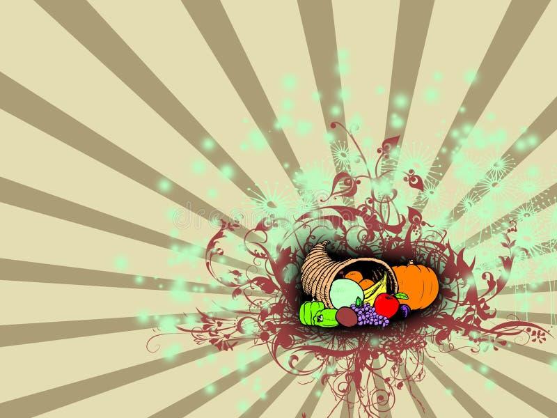 w Święto dziękczynienia ilustracja wektor