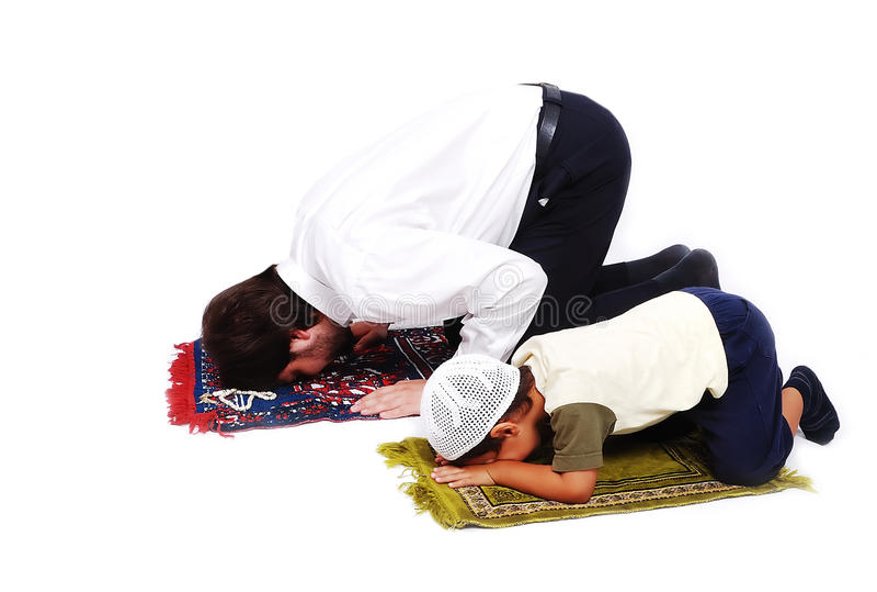W świętym Ramadan miesiąc cześć muzułmańscy activites zdjęcie stock