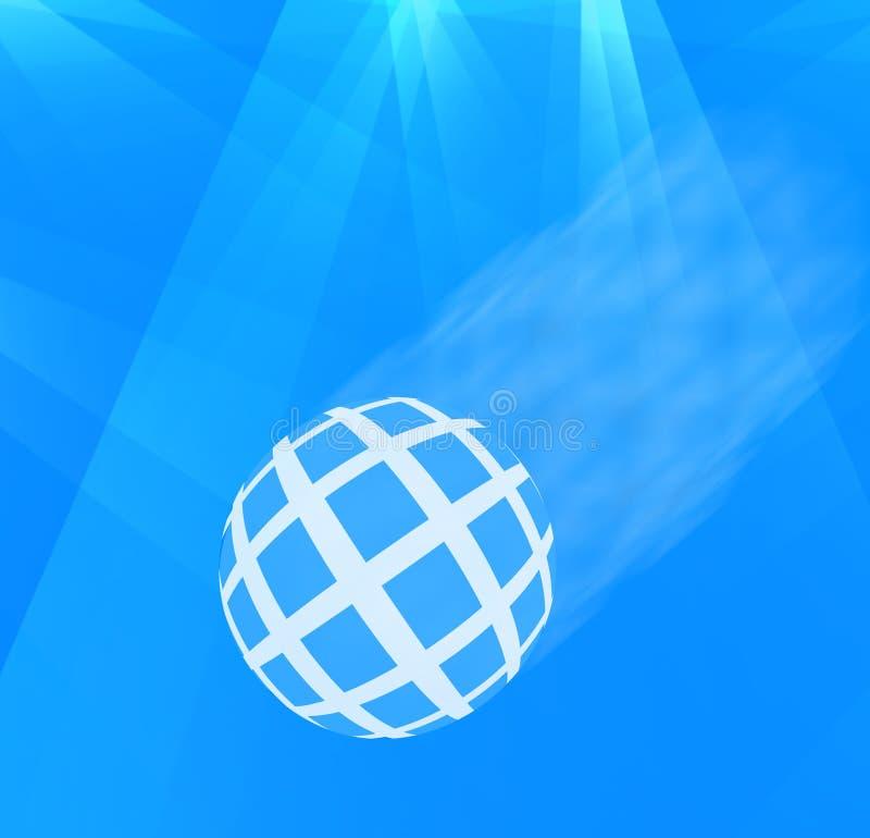 W Światło reflektorów błękitny Piłka royalty ilustracja
