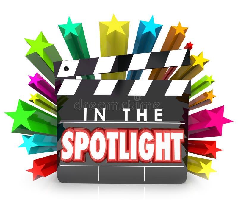 W światło reflektorów filmu Clapper Gra główna rolę rozpoznania docenienia Pr ilustracja wektor