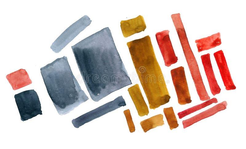 W akwareli abstrakcjonistyczni kształty ilustracja wektor