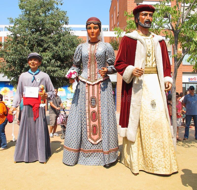 W Alella gigant parada obraz royalty free