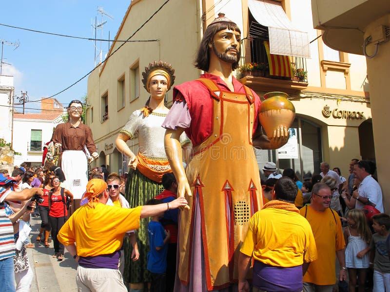 W Alella gigant parada zdjęcie stock