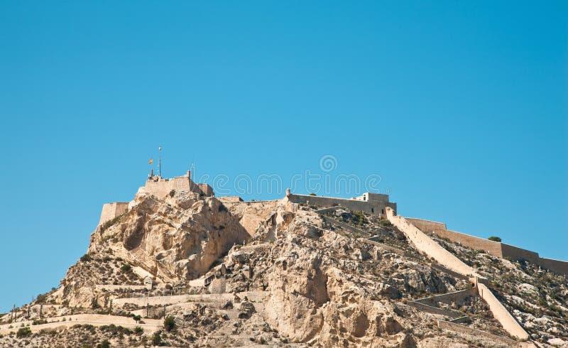 W Alicante Santa Barbara kasztel, Hiszpania obrazy royalty free