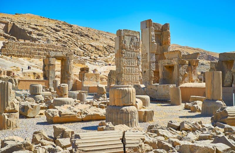 W antycznym Persepolis kompleksie, Iran zdjęcie royalty free