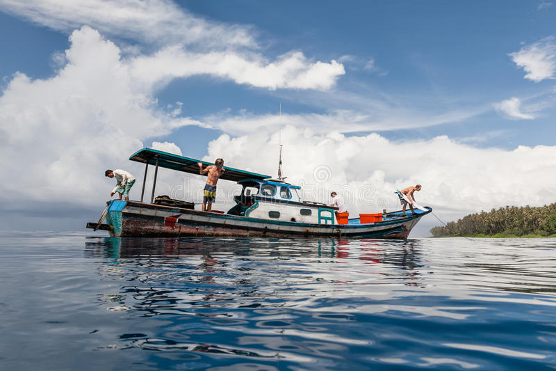 W błękitnego, Północnego Sumatra, obraz stock