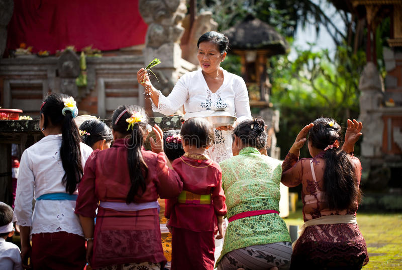 W Bali Kuningan Festiwal zdjęcie royalty free