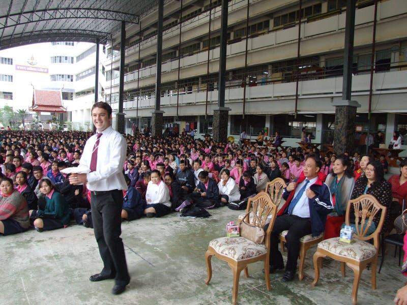 W Bangkok tajlandzka szkoła, Tajlandia. obraz stock
