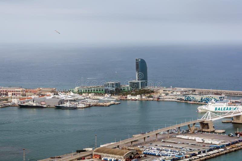 W Barcellona, anche conosciuta come i veli dell'hotel immagine stock libera da diritti