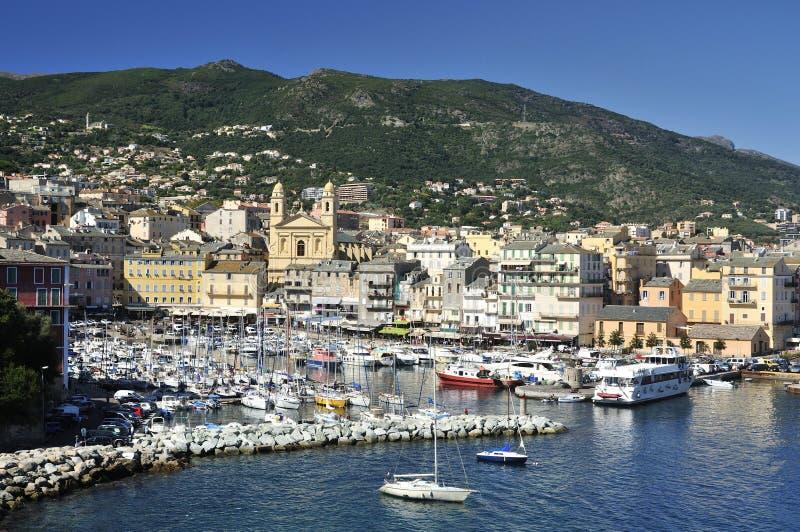 W Bastia Portowy Vieux Marina zdjęcie royalty free
