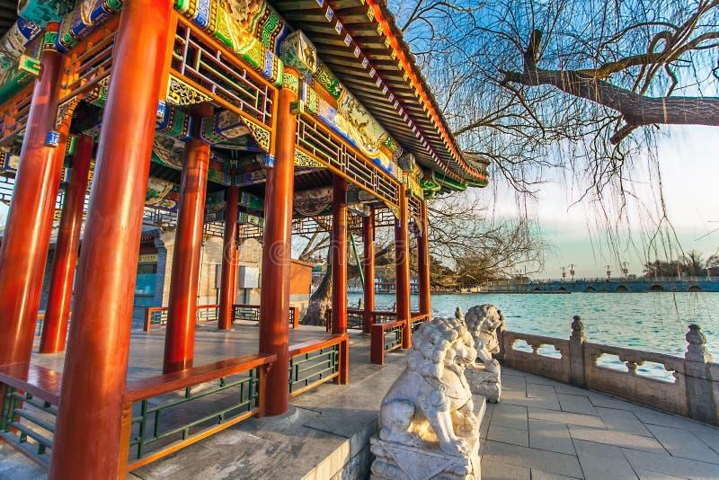 W Beihai parku w Pekin fotografia royalty free