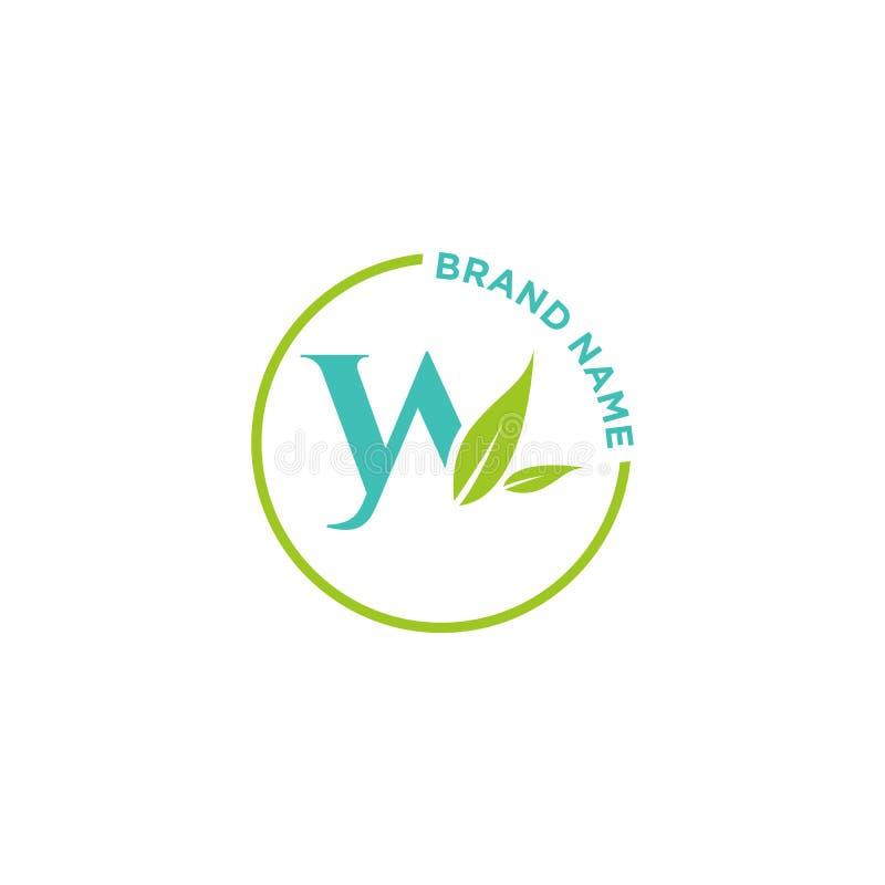 W-bokstavslogo eller initialer för affär royaltyfri illustrationer