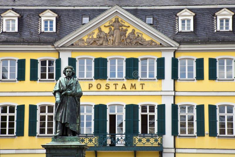 W Bonn Beethoven Statua, Niemcy. zdjęcie stock