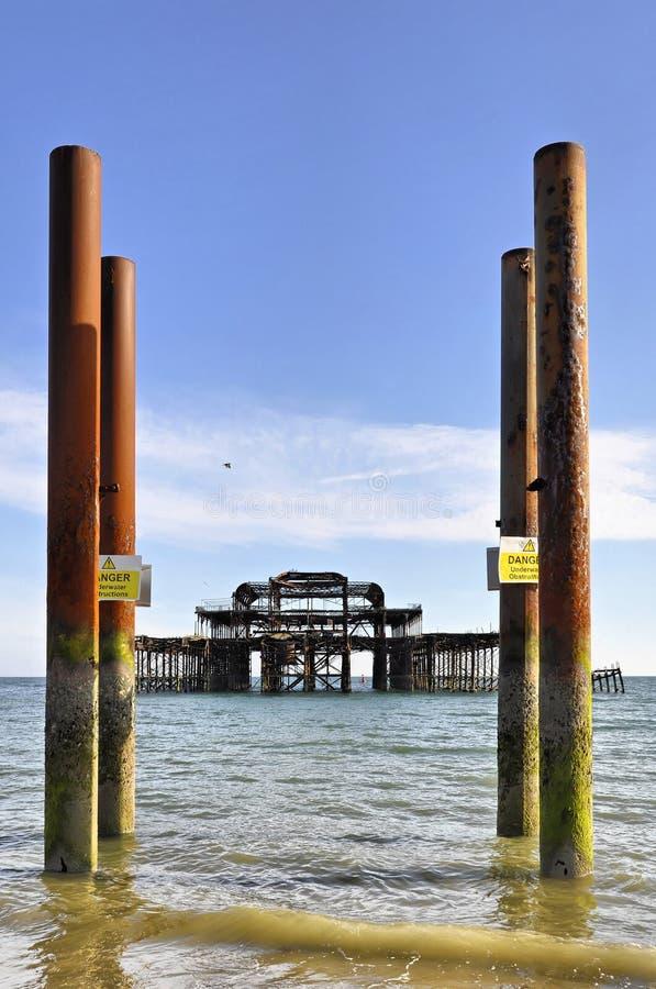 W Brighton Zachodni Molo zdjęcia royalty free