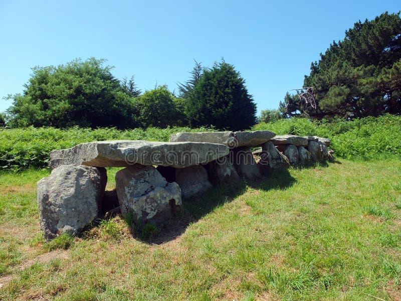 W Brittany megalityczny zabytek zdjęcie stock