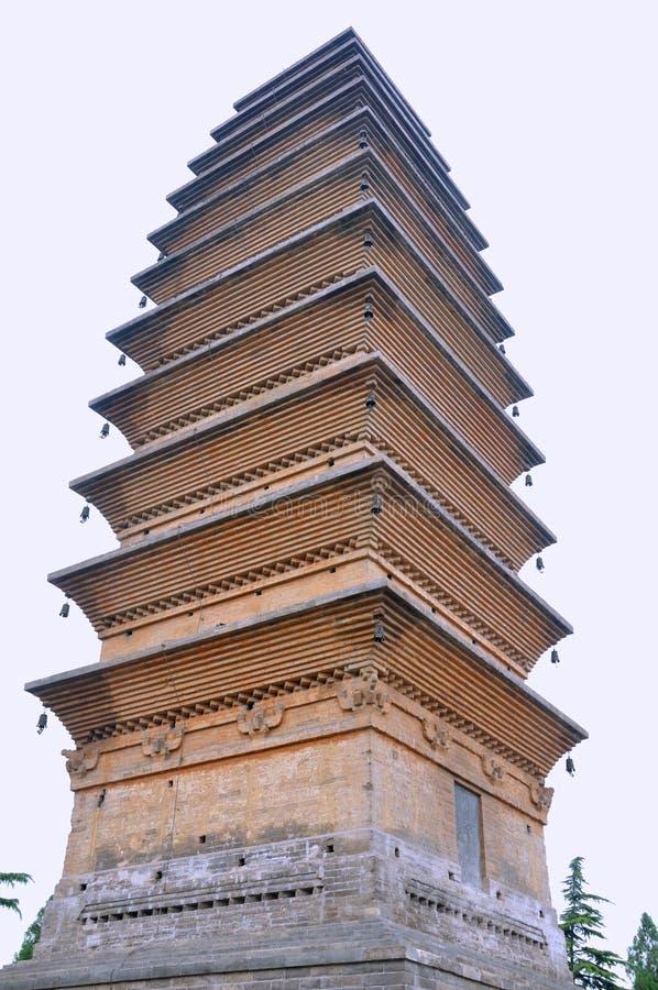 W Buddyzm Chińskiej świątyni Stary Wierza Obraz Royalty Free