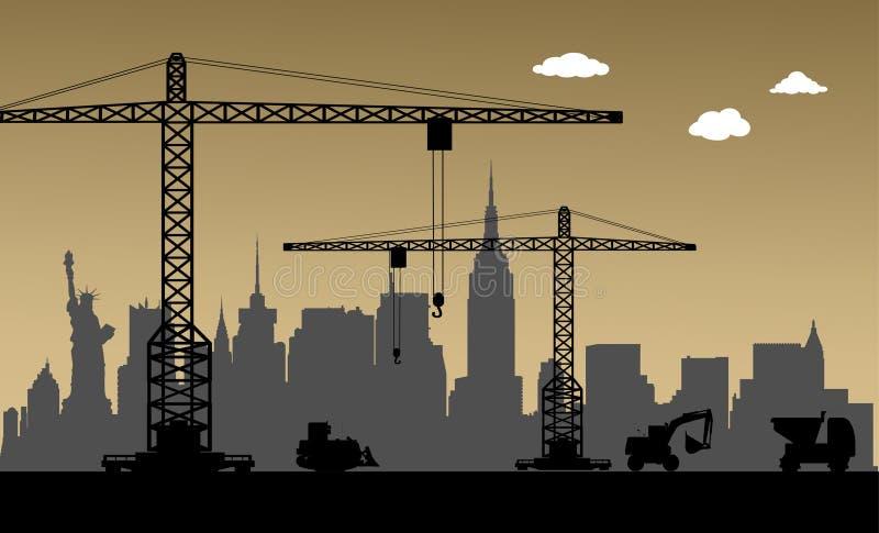 W Budowie, Miasto Nowy Jork, usa royalty ilustracja