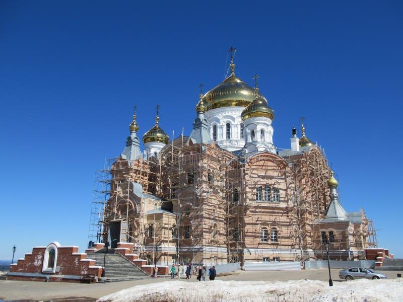 W budowie ortodoksalny kościół zdjęcia royalty free