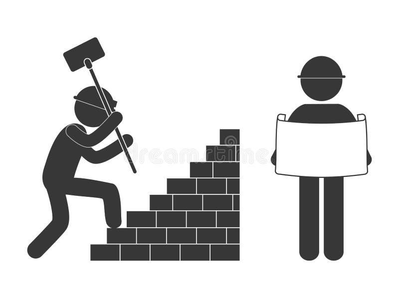 w budowie powiązany piktograma wizerunek ilustracji