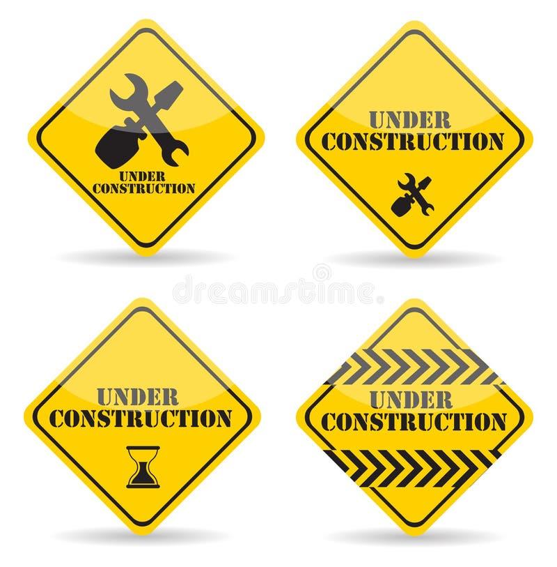 W Budowie znaka set również zwrócić corel ilustracji wektora ilustracja wektor