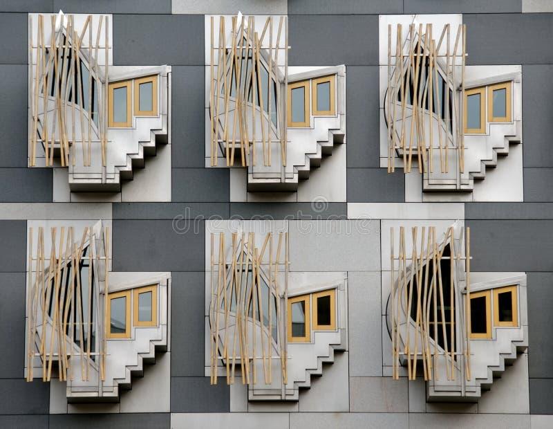 w budynku parlamentu szkocką obraz royalty free