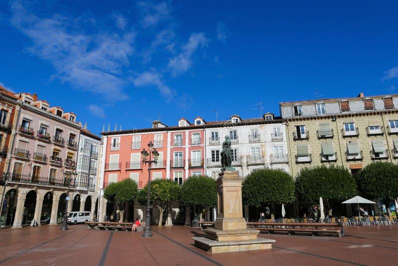 W Burgos placu Mayor, Hiszpania zdjęcie royalty free