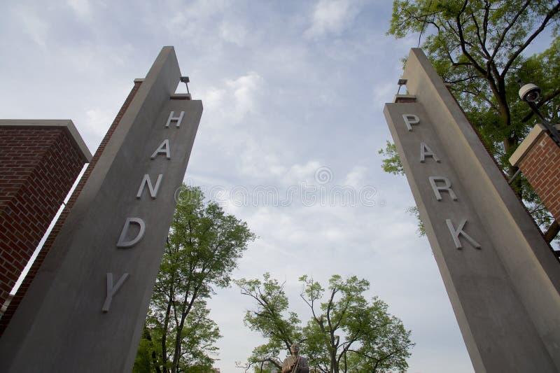 W C Handig Park in Memphis, TN royalty-vrije stock foto