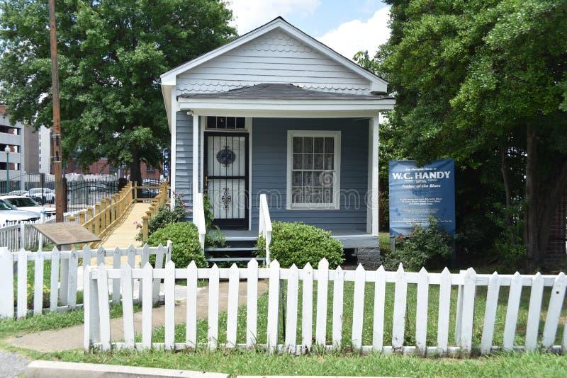 W C Handig Museum, Beale-Straat, Memphis, TN stock fotografie